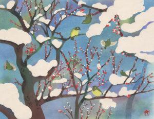 「岳の梅- Plum blossom」【No.77】伊砂正幸
