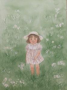 「草原にたたずむ少女」【No.96】松尾衣子