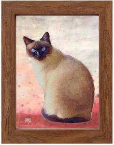 絵画レンタル販売 Art beans【No.132】なに見てんのよ…/嶋 俊介