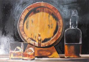 絵画レンタル販売 Art beans【No.155】卓上のワイングラス/七里享司