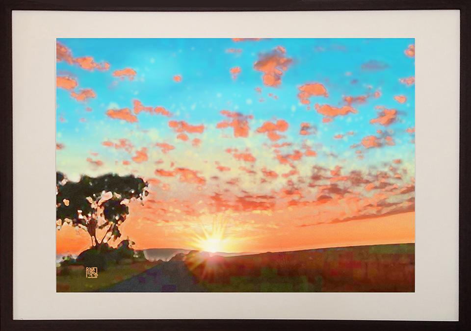 絵画レンタル販売 Art beans【No.163】友人が住むオーストラリアの朝焼け/嶋 俊介