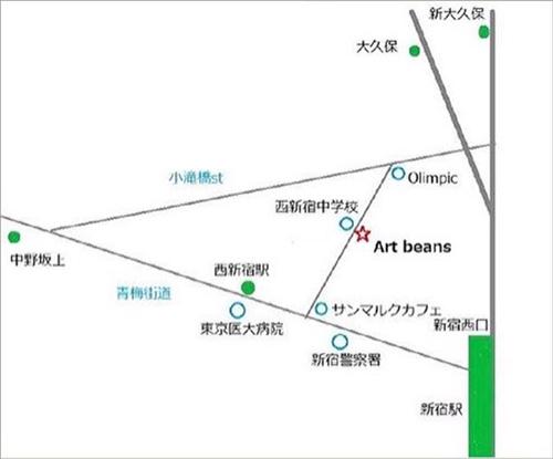絵画レンタル販売 Art beans 西新宿ギャラリー・マップ