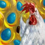 絵画レンタル販売 Art beans【No.191】「blue egg」/広田豊子