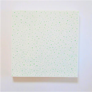 絵画レンタル販売 Art beans【No.196】「被膜の針孔 被膜の針孔 ホワイト&グリーン」/垣野内紀之