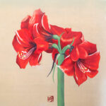 絵画レンタル販売 Art beans【No.197】「アマリリス」/高階明子