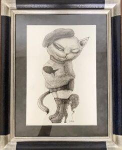 絵画レンタル販売 Art beans【No.209】「ブーツ」/篠崎佳子
